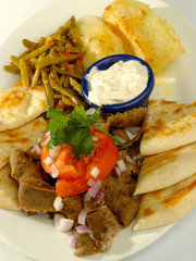 Athens on 86th Gyro Platter